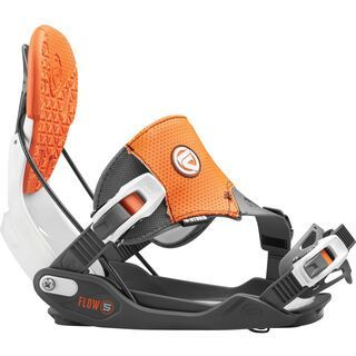 Flow Five Hybrid 2016, orange & grey - Snowboardbindung