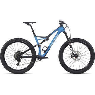 Specialized Stumpjumper FSR Comp Carbon 6Fattie 2017, carbon/blue/white - Mountainbike