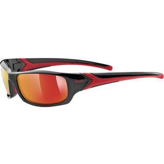 uvex sportstyle 211, black-red/Lens: mirror red - Sportbrille