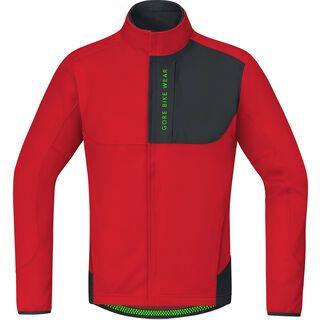 Gore Bike Wear Power Trail Windstopper Soft Shell Thermo Jacke, red/black