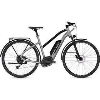 Ghost Hybride Square Trekking B1.8 W AL 2018, silver/black - E-Bike