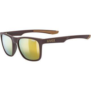 uvex lgl 42, brown mat/Lens: mirror gold - Sonnenbrille