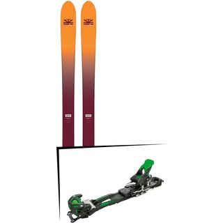 Set: DPS Skis Wailer F99 Foundation 2018 + Tyrolia Adrenalin 16 solid black flash green