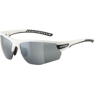 Alpina Tri-Scray 2.0 HR inkl. WS, white matt-black/Lens: ceramic mirror black - Sportbrille