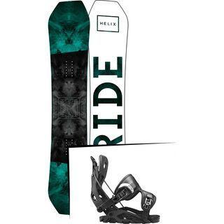 Set: Ride Helix 2017 + Flow Fuse 2017, black - Snowboardset