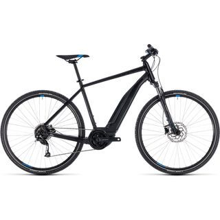 Cube Cross Hybrid ONE 500 2018, black´n´blue - E-Bike