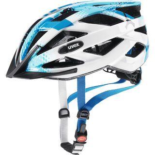 uvex air wing, blue white - Fahrradhelm