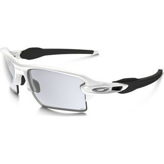 Oakley Flak 2.0 XL Photochromic, polished white/Lens: clear black iridium photochromic - Sportbrille