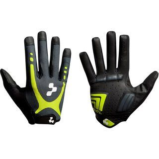 Cube Natural Fit Handschuhe Touch Langfinger, lime´n´black - Fahrradhandschuhe