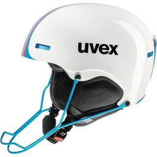 uvex hlmt 5 race, white-blue - Skihelm