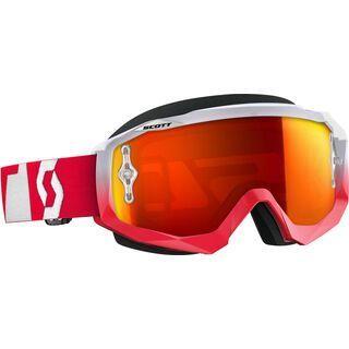 Scott Hustle MX, oxide red/white orange chrome - MX Brille