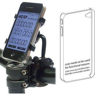 NC-17 AL 3D Halter iPhone 4,4S black eloxiert