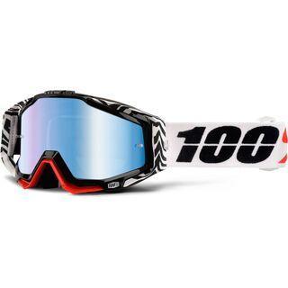 100% Racecraft inkl. WS, zoolander/Lens: mirror blue - MX Brille