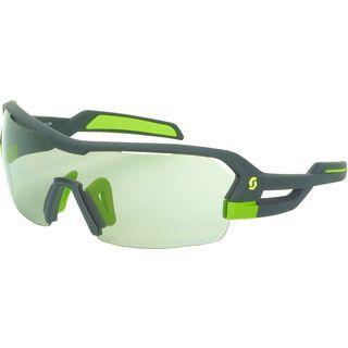 Scott Spur LS Sunglasses + Wechselscheibe, grey matt/green/Lens: grey light sensitive - Sportbrille
