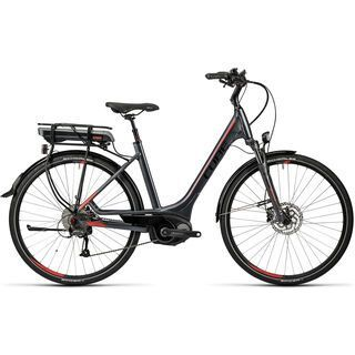 Cube Touring Hybrid 400 Easy Entry 2016, grey´n´red - E-Bike