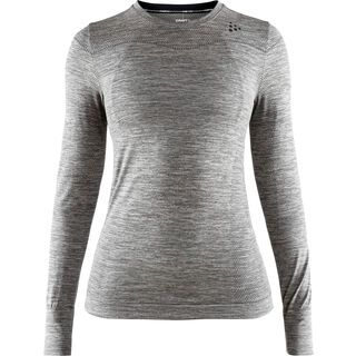 Craft Fuseknit Comfort RN LS W, dark grey melange - Unterhemd