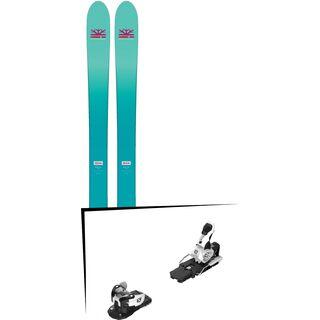Set: DPS Skis Nina F99 Foundation 2018 + Salomon Warden MNC 13 white/black