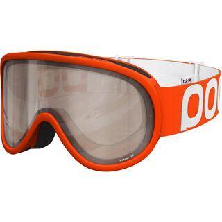 POC Retina NXT Photo, orange/Lens: brown silver mirror - Skibrille