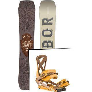 Set: Arbor Draft 2017 + Nitro Phantom 2016, harvest gold - Snowboardset