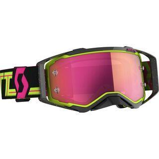Scott Prospect Goggle, black/yellow/Lens: pink chrome wks - MX Brille