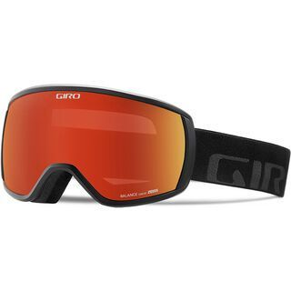 Giro Balance, black wordmark/Lens: amber scarlet - Skibrille