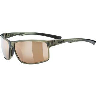 uvex lgl 44 cv, grey black/Lens: colorvision daily champagne mirror - Sonnenbrille