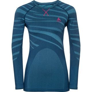 Odlo SUW Top Performance Blackcomb Crew Neck L/S, poseidon-pink - Unterhemd