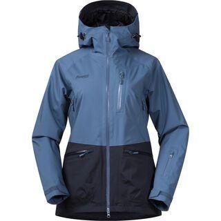 Bergans Myrkdalen Insulated Lady Jacket, fog blue/dark navy - Skijacke