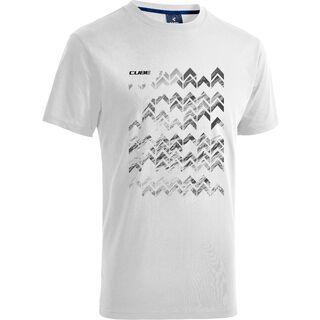 Cube T-Shirt Arrow, white