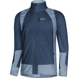 Gore Wear C5 Partial Gore Windstopper Isolierte Jacke, deep water blue/cloudy blue - Radjacke