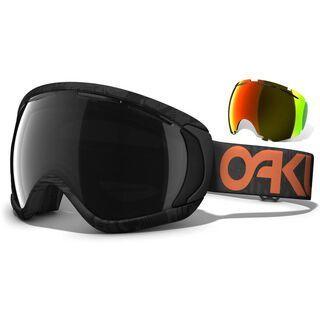 Oakley Canopy Core Account Exclusive, Factory Pilot Bunker Black/Fire Iridium & Dark Grey - Skibrille