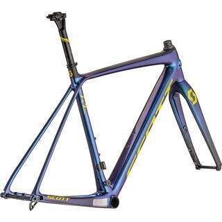 Scott Addict CX RC Frameset prism purple/radium yellow 2021