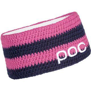 POC Crochet Headband Striped, Dubnium Blue/Chromium Pink - Stirnband