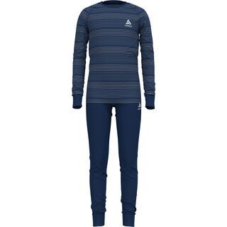Odlo Active Warm Eco Kids Baselayer Set, blue/grey