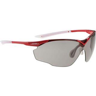 Alpina Splinter Shield VL, red white/Lens: varioflex black - Sportbrille