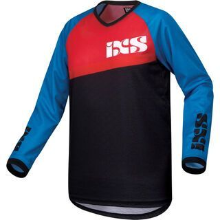 IXS Pivot 6.1 Kids Jersey, petrol red black - Radtrikot