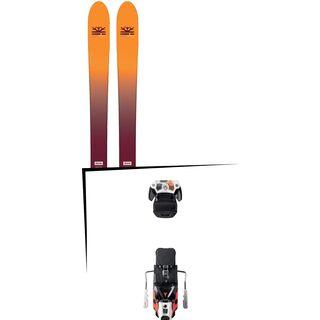 Set: DPS Skis Wailer F99 Foundation 2018 + Atomic Warden MNC 13 white/black/orange