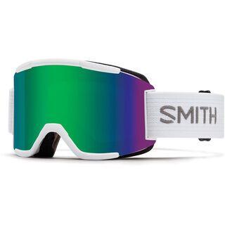 Smith Squad inkl. Wechselscheibe, white/Lens: green sol-x mirror - Skibrille