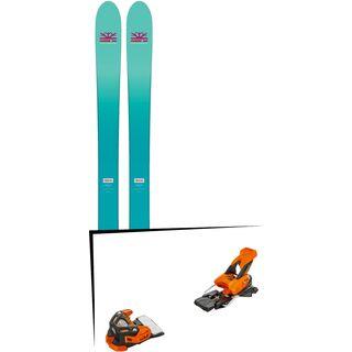 Set: DPS Skis Nina F99 Foundation 2018 + Tyrolia Attack 16 solid black flash orange
