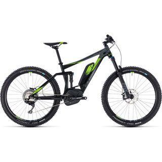 Cube *** 2. Wahl *** Stereo Hybrid 140 Race 500 27.5 2018   Größe 20 Zoll, black´n´green - E-Bike