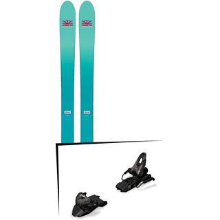 Set: DPS Skis Nina F99 Foundation 2018 + Marker Free Ten inkl. Screw-Kit black
