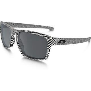 Oakley Sliver Fingerprint, polished white/Lens: black iridium - Sonnenbrille