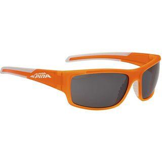 Alpina Testido, orange matt white/Lens: ceramic mirror black - Sonnenbrille