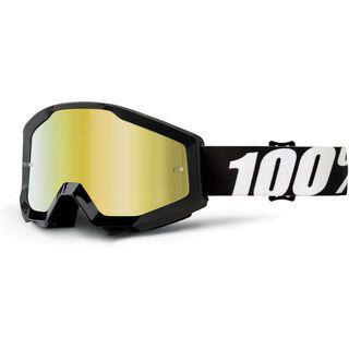 100% Strata, outlaw/Lens: mirror gold - MX Brille