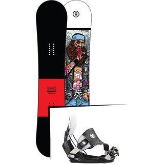 Set: Ride Crook Wide 2017 + Flow Five Hybrid 2016, stormtrooper - Snowboardset