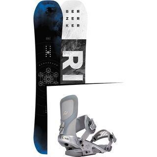 Set: Ride Berzerker 2017 + Ride Rodeo LTD 2016, silver - Snowboardset