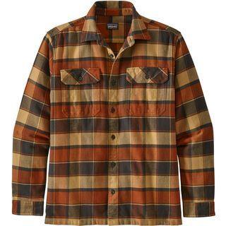 Patagonia Men's Long-Sleeved Fjord Flannel Shirt, burnished red - Hemd