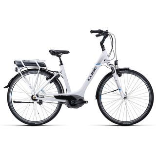 Cube Travel Hybrid RT Easy Entry 2015, white anthrazit blue - E-Bike