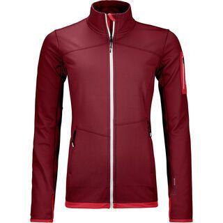 Ortovox Merino Fleece Light Jacket W, dark blood - Fleecejacke