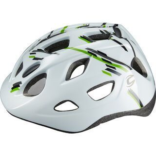 Cannondale Kid CFR, white/black/green - Fahrradhelm